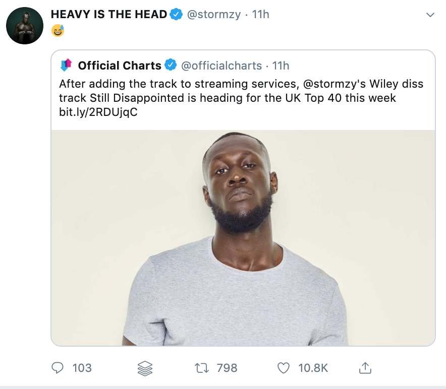 Stormzy Still Disappointed Charting