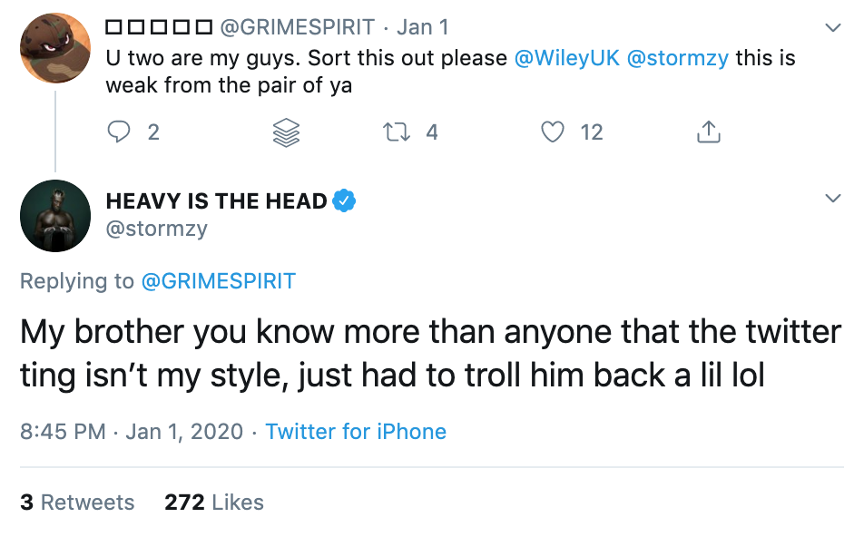 Stormzy Wiley trolling