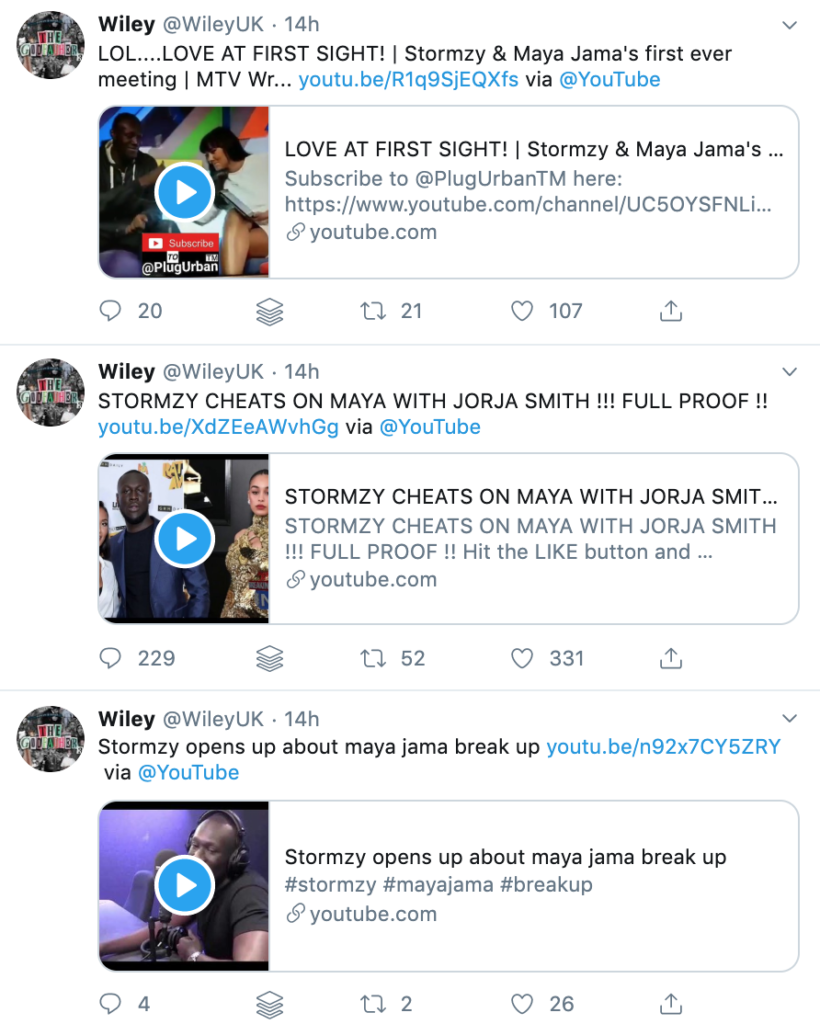 Wiley firing shots at Stormzy Maya Jama